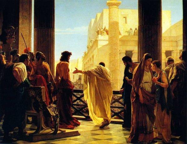 Ecce Homo, Antonio Ciseri Poncjusz Piłat przedstawiający ubiczowanego Jezusa z Nazaretu mieszkańcom Jerozolimy